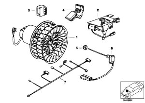Original Parts for E36 316i 19 M43 Compact  Heater And