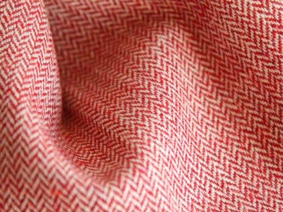 écharpe laine rouge