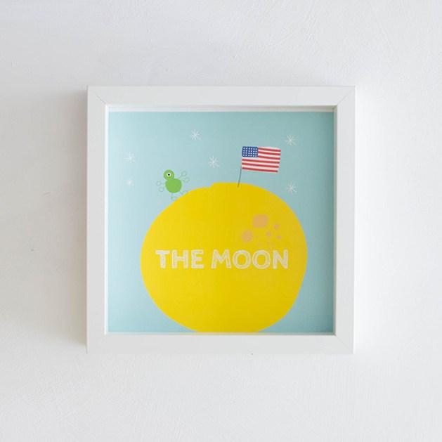 Ilustradora Estrella de Pablo, Lámina The Moon