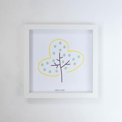 lamina arbol amarillo lisa