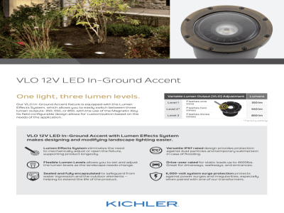 introducing the kichler in ground vlo