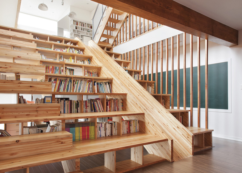 escalera librería
