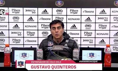 Gustavo Quinteros, DT de Colo Colo.