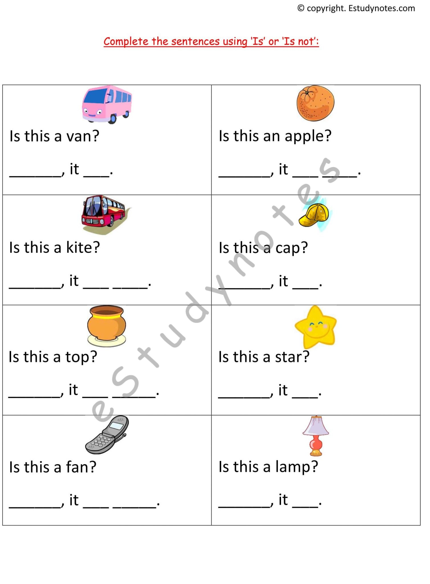 Adjectives Preposition And Punctuation Workbook Grade 1