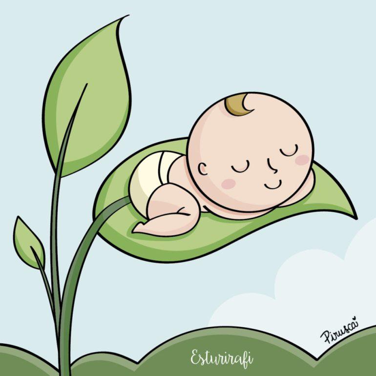 ilustracion de pirusca bebes