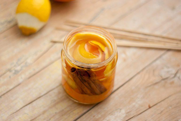 Ambientador casero citricos y canela