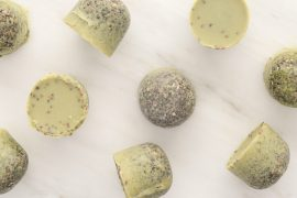 Exfoliante sólido de chia y té verde