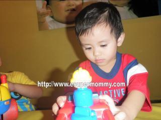 Filipino little boy playing