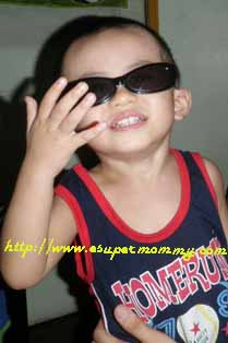 Cute Filipino Toddler wearing shades