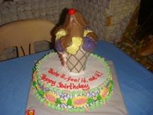 Shower and Birthday cake