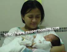 Experience of a mom in giving birth