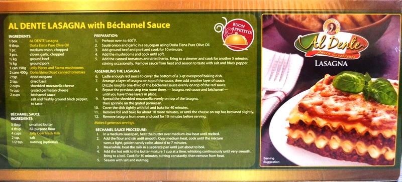 Lasagna with Bechamel sauce