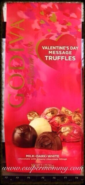 Godiva Valentine's Day Message Truffles
