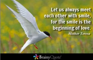 Inspiring Quote by Mother Teresa