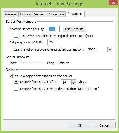 PLDT-internet E-mail Settings