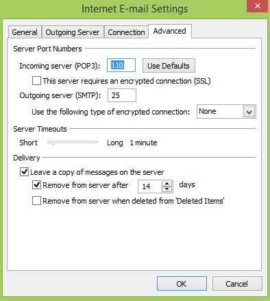 PLDT-internet E-mail Settings