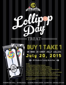 Made in Candy Lollipop Day Treat