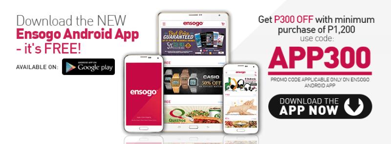 Ensogo app promo code