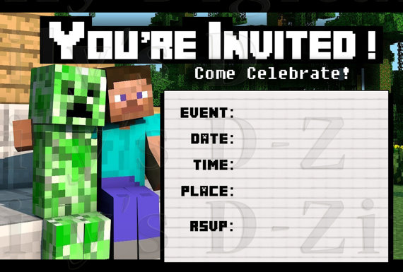 This is a picture of Printable Minecraft Birthday Cards in happy birthday