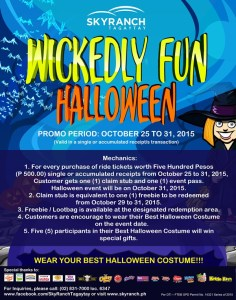 Sky ranch Wickedly Fun Halloween Promo