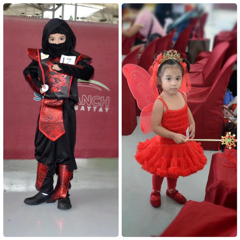 Ninja and red fairy costume