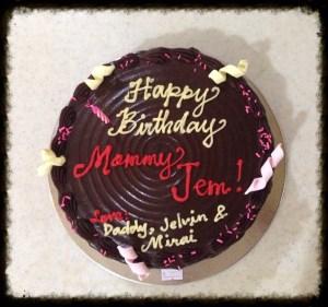 birthday choco cake