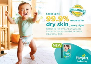 "Win your ""Baby's First"" prize by Joining in the New Pampers Baby Dry 99.9% Dryness Challenge"