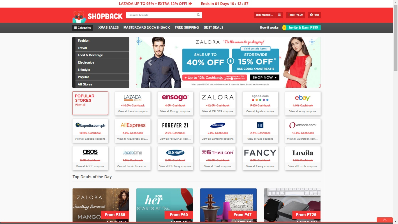 Christmas Discounts with Shopback