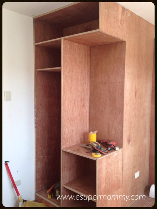 built in wardrobe with vanity