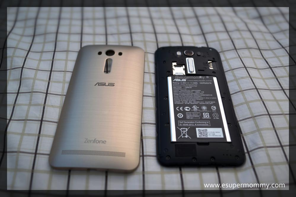 ASUS ZenFone 2 with back cover