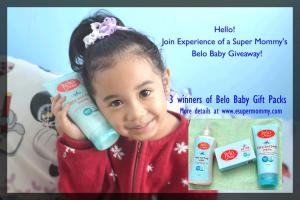 Experience of a Super Mommy's Belo Baby Giveaway