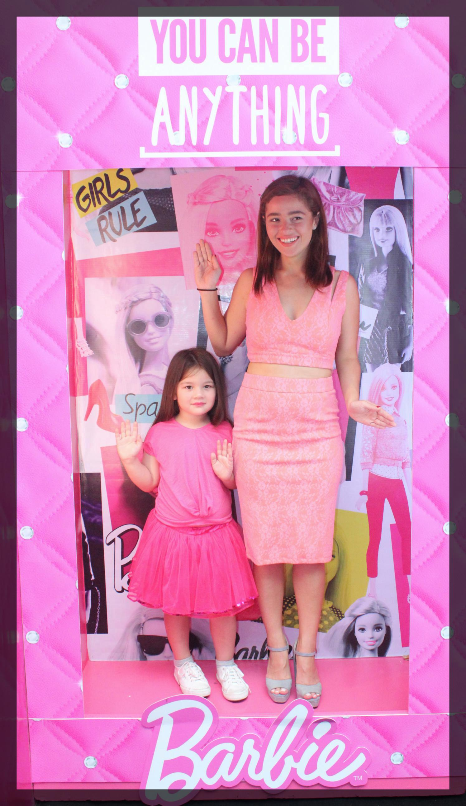 Andi Eigenmann with Daughter Ellie at the Barbie event