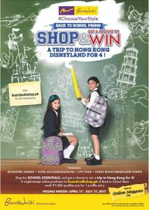 Boardwalk's Shop and Win a Trip to HongKong Disneyland for 4