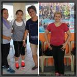 Before and after pictures of doing Zumba