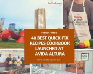 40 Best Quick-Fix Recipes Cookbook Launched at Avida Towers Altura