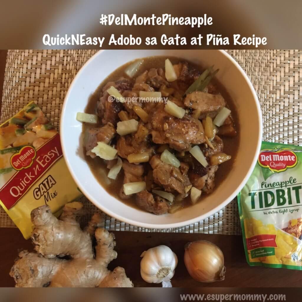 Quick N Easy Adobo Sa Gata t Piña Recipe