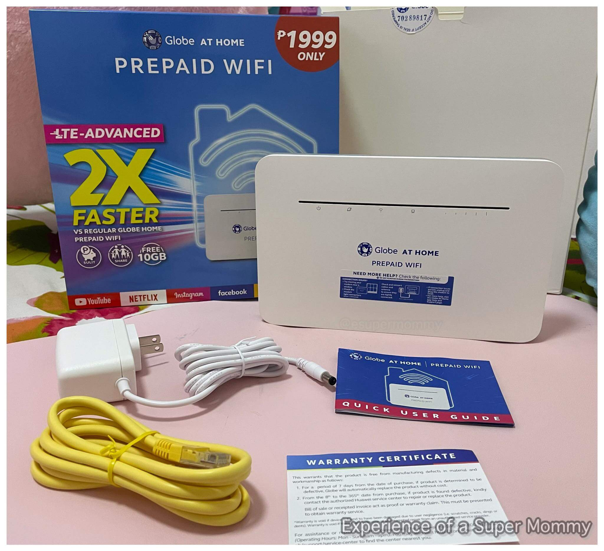 globe at home prepaid wifi unboxing