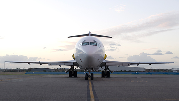 The Boeing 727-200 house.
