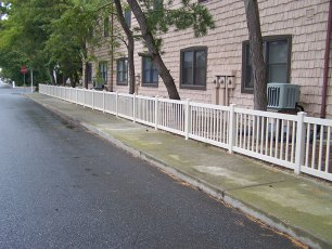 Fenwick Vinyl Closed Rail Fence