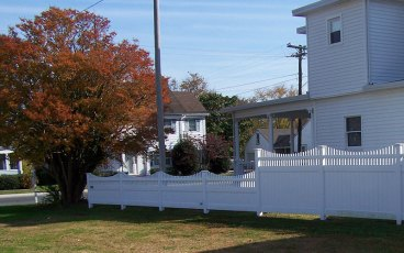 Hatteras PTR Dip Vinyl Privacy Fence