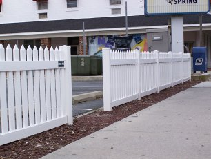Irvington Straight Vinyl Picket Fence
