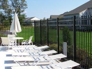 Style 203-3 Aluminum Fence