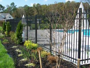 Style 203-7 Aluminum Fence