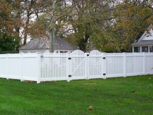 Tidewater 1 Inch Straight Vinyl Picket Fence