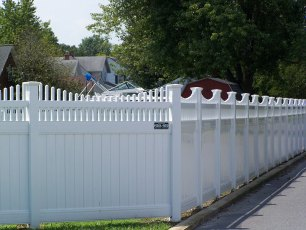 Vinyl Privacy Picket Fence
