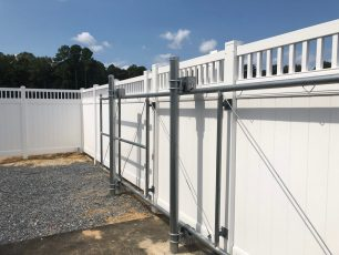 Hatteras Dentil Vinyl Privacy Fence