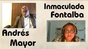 Andrés Mayor con Inmaculada Fontalba