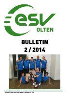 ESV Olten Bulletin 2/2014