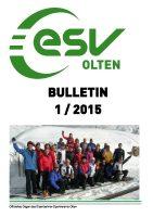 ESV Olten Bulletin 1/2015
