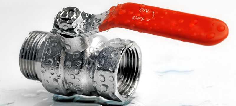 Installation et remplacement de vanne d'arrêt d'eau qui fuit